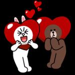 【新作スタンプ】ブラウン&コニー ドキドキデート♪ スタンプ