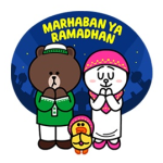 【海外限定スタンプ】LINEキャラクター:ラマダンをお祝い(インドネシア) スタンプ(2014年08月08日 まで)