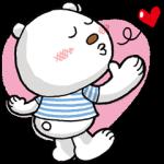 【限定スタンプ】ニトリのシロクマ スタンプ(2014年09月01日まで)