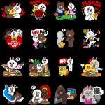 【海外限定スタンプ】LINEキャラクター:ファミリースペシャル(香港) スタンプ(2014年06月13日まで)