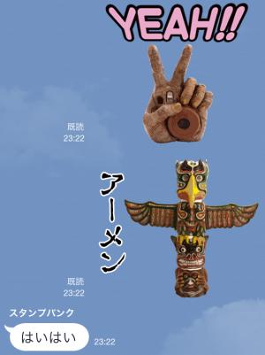 【芸能人スタンプ】ラーメンズ片桐仁の粘土アートで一言 スタンプ (15)