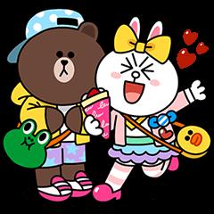 【シリアルナンバー】LINE FRIENDS in 原宿 スタンプ(2015年12月12日まで)