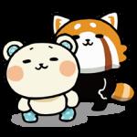 【動く限定スタンプ】しろたさんとれさ丸 スタンプ(2015年01月12日まで)