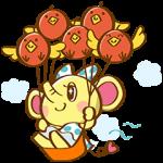 【動く限定スタンプ】動く!HSPAOOON&りんご鳥 スタンプ(2015年01月12日まで)