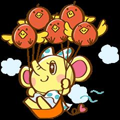 【動く限定スタンプ】動く!HSPAOOON&りんご鳥 スタンプ(2015年01月12日まで) (2)