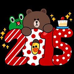【隠しスタンプ】LINEサンタからメリークリスマス♪ スタンプ(2015年01月05日まで)