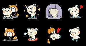 【動く限定スタンプ】しろたさんとれさ丸 スタンプ(2015年01月12日まで) (8)