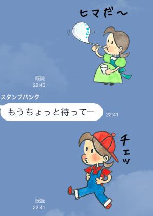 【アニメ・マンガキャラクリエイターズ】チッチとサリー(小さな恋のものがたり) スタンプ (3)