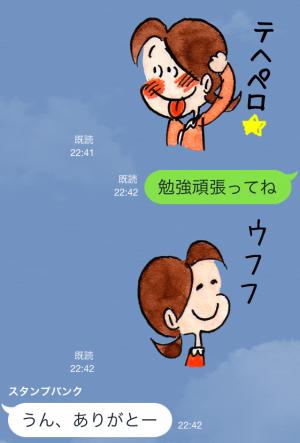 【アニメ・マンガキャラクリエイターズ】チッチとサリー(小さな恋のものがたり) スタンプ (5)