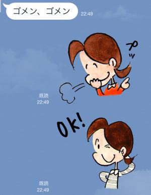 【アニメ・マンガキャラクリエイターズ】チッチとサリー(小さな恋のものがたり) スタンプ (10)