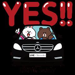 【限定スタンプ】Drive Safely スタンプ(2015年02月23日まで)