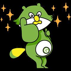 【動く限定スタンプ】初登場!動く「うけたまわり ぽん助」 スタンプ(2015年02月23日まで)