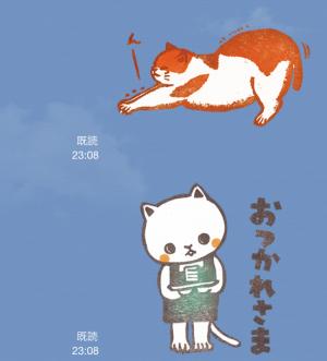【テレビ番組企画スタンプ】とみこはんの猫まみれはんこ スタンプ (7)