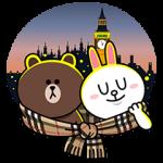 【隠しスタンプ】ブラウン&コニーのバーバリーデビュー スタンプ(2015年05月11日まで)
