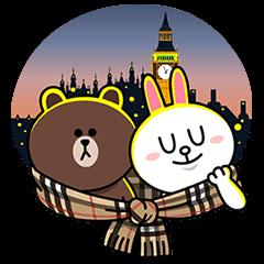 【無料スタンプ速報:隠しスタンプ】ブラウン&コニーのバーバリーデビュー(2015年05月11日まで)