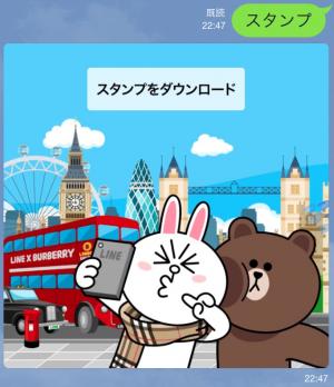 【隠しスタンプ】ブラウン&コニーのバーバリーデビュー スタンプ(2015年05月11日まで) (6)