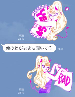 【企業マスコットクリエイターズ】ウラナリくんとリルデビルちゃん スタンプ (7)