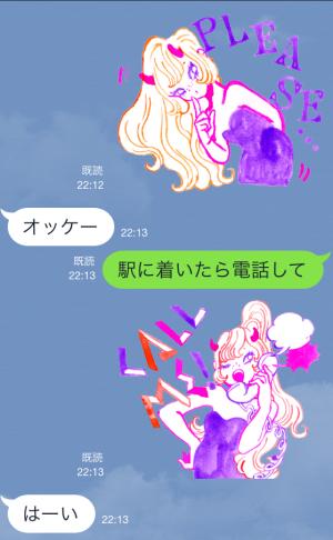 【企業マスコットクリエイターズ】ウラナリくんとリルデビルちゃん スタンプ (9)