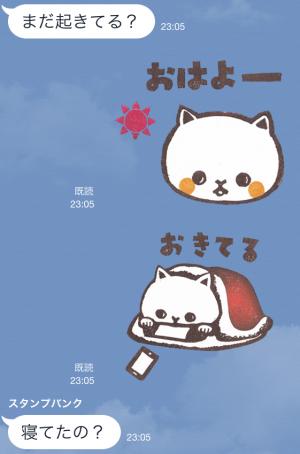 【テレビ番組企画スタンプ】とみこはんの猫まみれはんこ スタンプ (3)