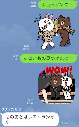 【隠しスタンプ】ブラウン&コニーのバーバリーデビュー スタンプ(2015年05月11日まで) (12)