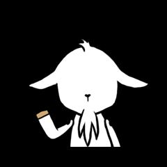 【企業マスコットクリエイターズ】シロヤギさんとクロヤギさん スタンプ