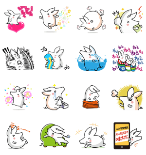 【無料スタンプ速報】動く☆ジョブーブ スタンプ(2015年03月23日まで)