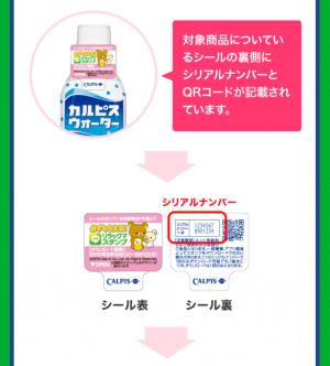 【シリアルナンバー】「カルピス」ブランド×リラックマ スタンプ(2015年06月01日まで) (4)