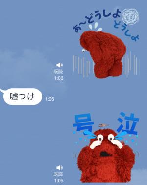 【音付きスタンプ】ガチャピン・ムック おしゃべりスタンプ (7)
