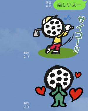 【企業マスコットクリエイターズ】ゴルパ君 スタンプ (6)