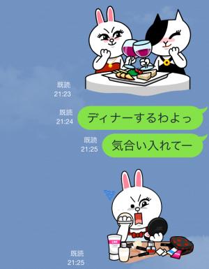【公式スタンプ】コニー&ジェシカ ガールズトーク! スタンプ (4)