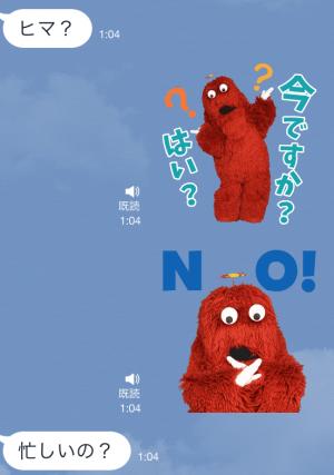 【音付きスタンプ】ガチャピン・ムック おしゃべりスタンプ (4)