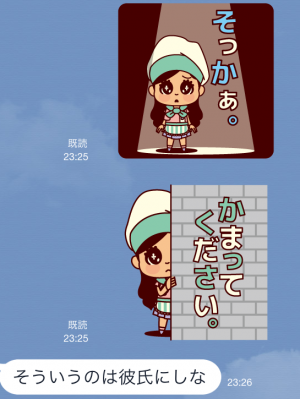 【芸能人スタンプ】ねんドル岡田ひとみ スタンプ (5)