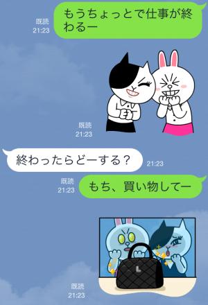 【公式スタンプ】コニー&ジェシカ ガールズトーク! スタンプ (3)