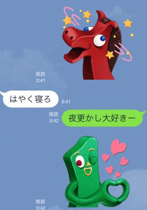 【アニメ・マンガキャラクリエイターズ】【粘土のスタンプ】ガンビー スタンプ (6)