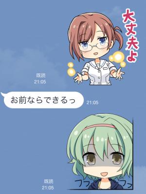 【ゲームキャラクリエイターズスタンプ】白衣性恋愛症候群 スタンプ (6)