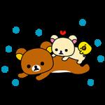 【無料スタンプ速報:シリアルナンバー】「カルピス」ブランド×リラックマ スタンプ(2015年06月01日まで)