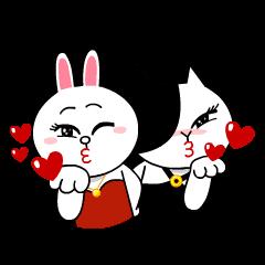【公式スタンプ】コニー&ジェシカ ガールズトーク! スタンプ
