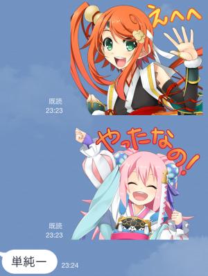 【ゲームキャラクリエイターズスタンプ】戦国†恋姫 スタンプ (4)