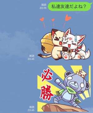 【アニメ・マンガキャラクリエイターズ】九蔵喵窩オリジナルアニメ SAKURA 1 スタンプ (7)