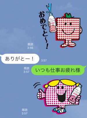 【隠しスタンプ】エビアン × ミスターメン リトルミス スタンプ(2015年09月17日まで) (4)
