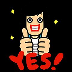 【限定スタンプ】悩みハジケろ!NoWorriesファンタ スタンプ(2015年04月20日まで)