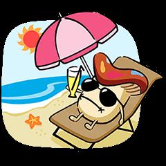 【無料スタンプ速報】ドコモダケ 海外旅行篇 スタンプ(2015年09月30日まで)