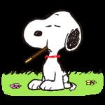 【シリアルナンバー】スヌーピーおでかけスタンプ<ポッキー> スタンプ(2015年09月21日まで)