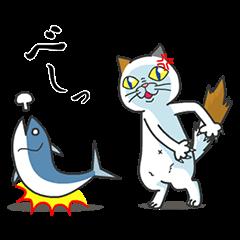 【無料スタンプ速報】タマ川 ヨシ子(猫)祝!二周年Ver. スタンプ(2015年05月18日まで)