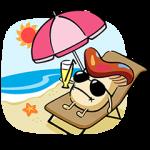 【隠しスタンプ】ドコモダケ 海外旅行篇 スタンプ(2015年09月30日まで)