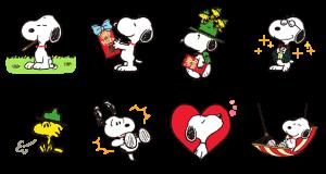 【無料スタンプ速報】スヌーピーおでかけスタンプ<ポッキー> スタンプ(2015年09月21日まで)