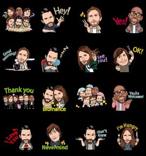 【限定スタンプ】Maroon 5 スタンプ(2015年07月06日まで)