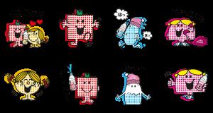 【無料スタンプ速報:隠しスタンプ】エビアン × ミスターメン リトルミス スタンプ(2015年09月17日まで)