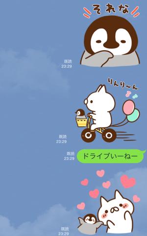 【隠しスタンプ】JAF×ねこぺん日和コラボスタンプ(2015年08月11日まで) (4)