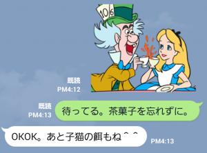 【公式スタンプ】ふしぎの国のアリス(アニメーション) スタンプ (6)